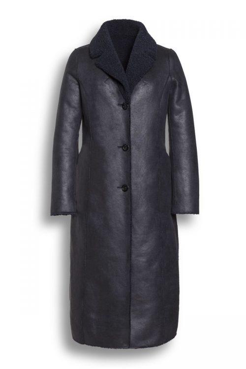 Beaumont llama reversible navy coat