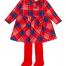 Agatha Ruiz de la Prada red and navy check dress with red tights