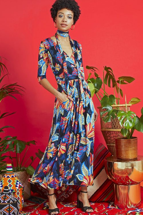 Crawford midi dress