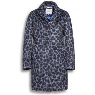 Beaumont animal print blue coat