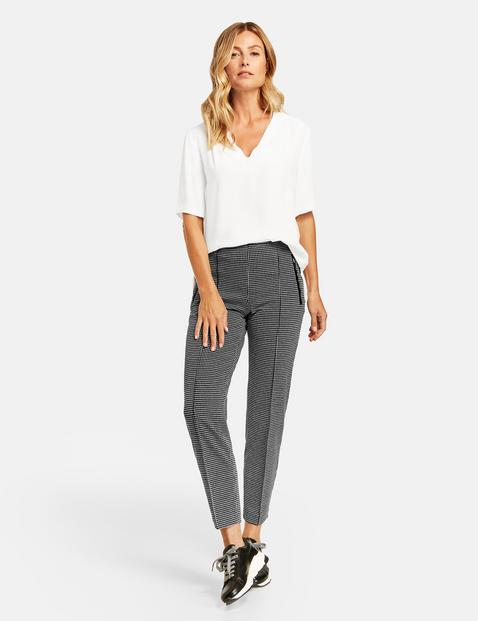 Gerry Weber black and whitE check trousers