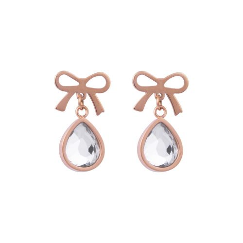 K&D 517 bow and tear drop earrings