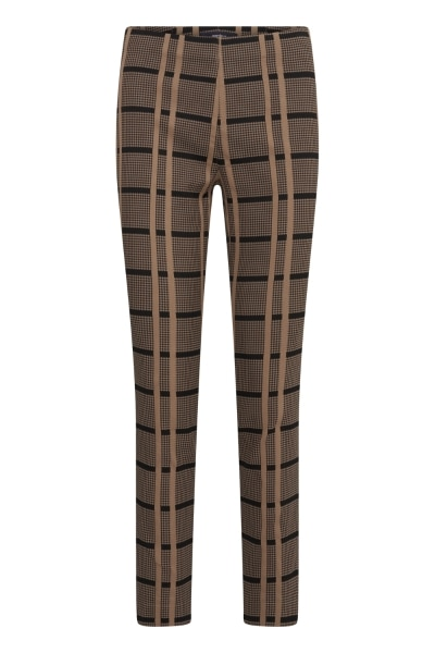 Gardeur Zene14 621311 Pull up trousers in camel and black