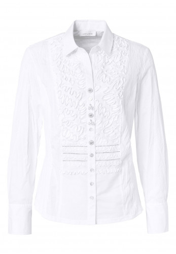 Just white blouse with silver detail