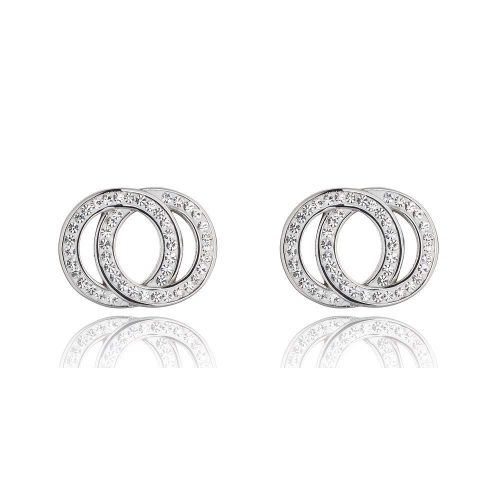 511 K&D Diamanté and silver circle earrings