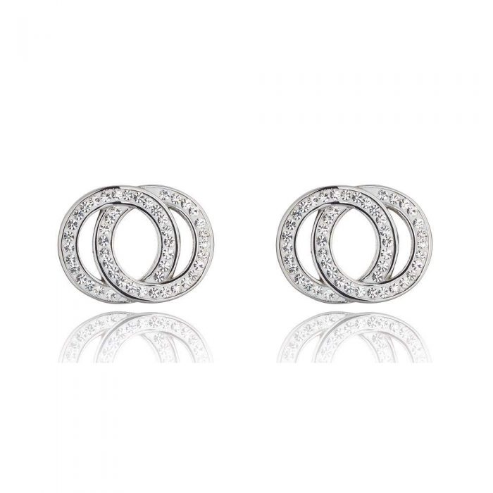 511 K&D Diamanté and silver circle earrings