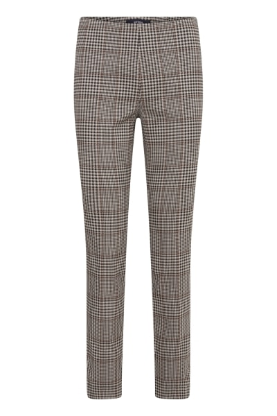 Gardeur zene14 621441 camel check pull up trousers