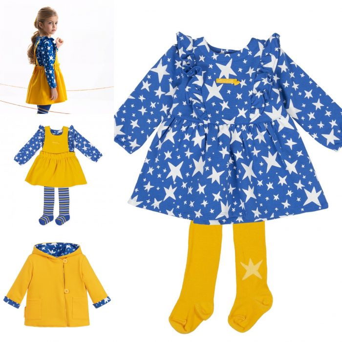 Royal girls dress with star detail