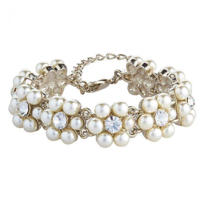 K&D 255 pearl and diamanté bracelet