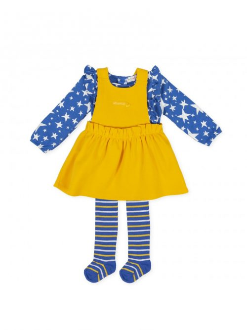 Agatha Ruiz de la Prada saffron pinafore top and tights