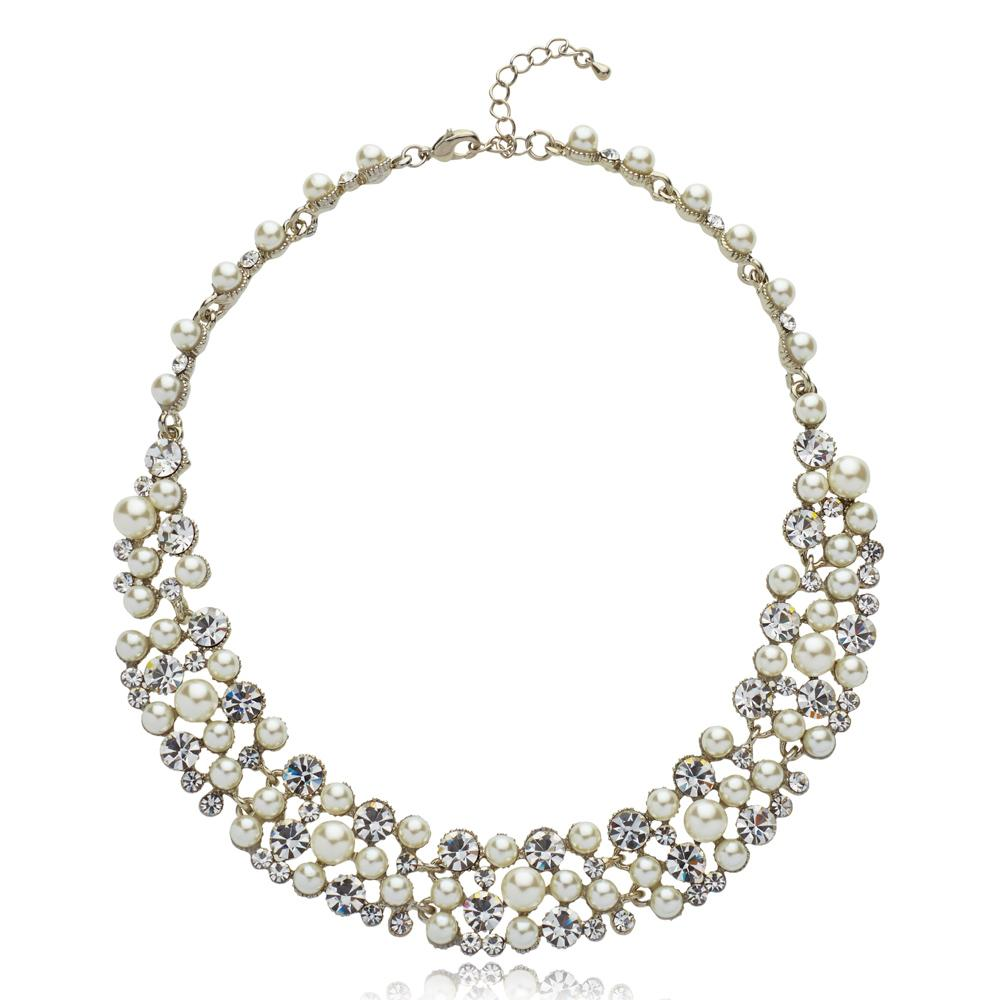 K&D 501 Pearl and diamanté necklace