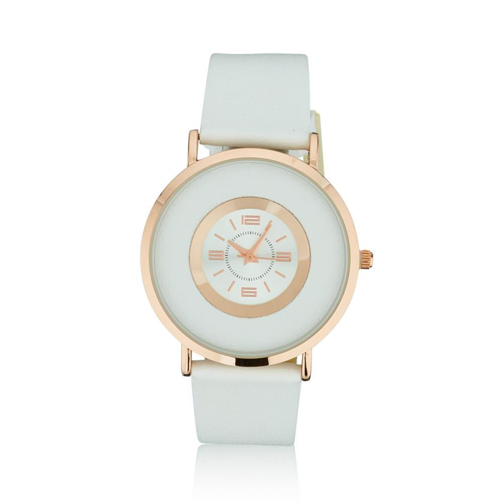 K&D white and rose gold watch