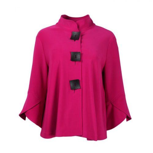 Joseph Ribkoff Lipstick swing jacket button detail