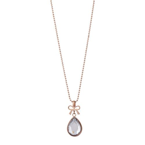 K&D 519 Bow and teardrop necklace
