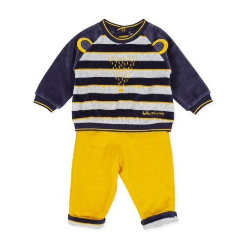 Tutto saffron and navy stripe 2 piece