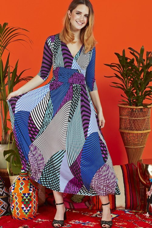 Lyra print Crawford dress