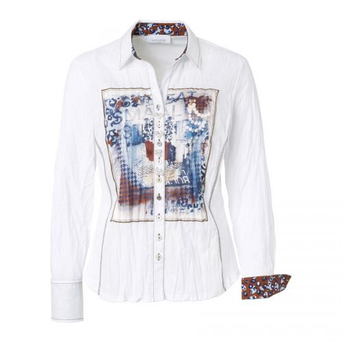 Just White Blouse 43378