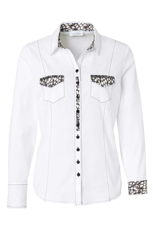 Just White blouse 43058