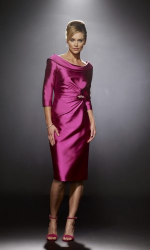 Irristible fushia dress with cowl