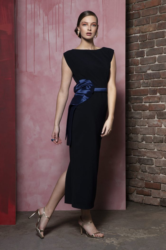 Caroline Kilkenny midnight Monica dress
