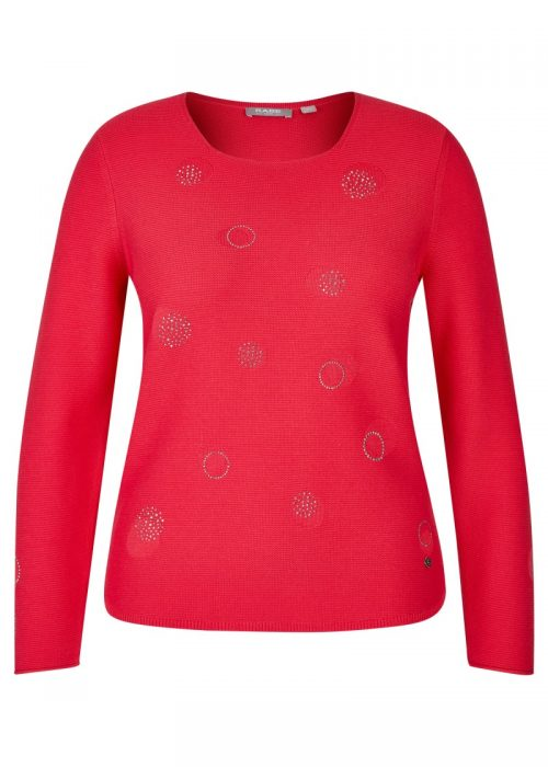 Rabe coral jumper with silver embellishments 46311601