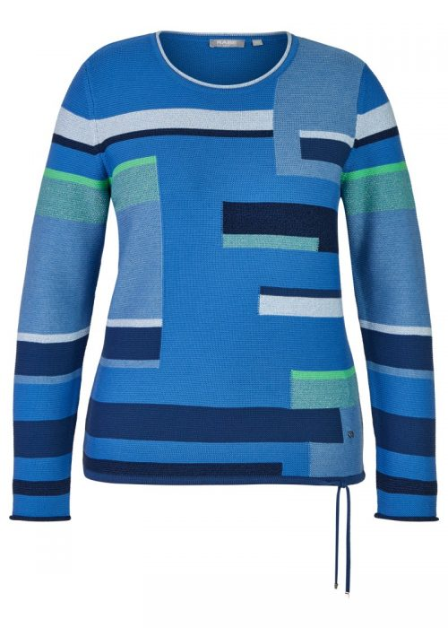 Rabe blue green and navy jumper 46-012658