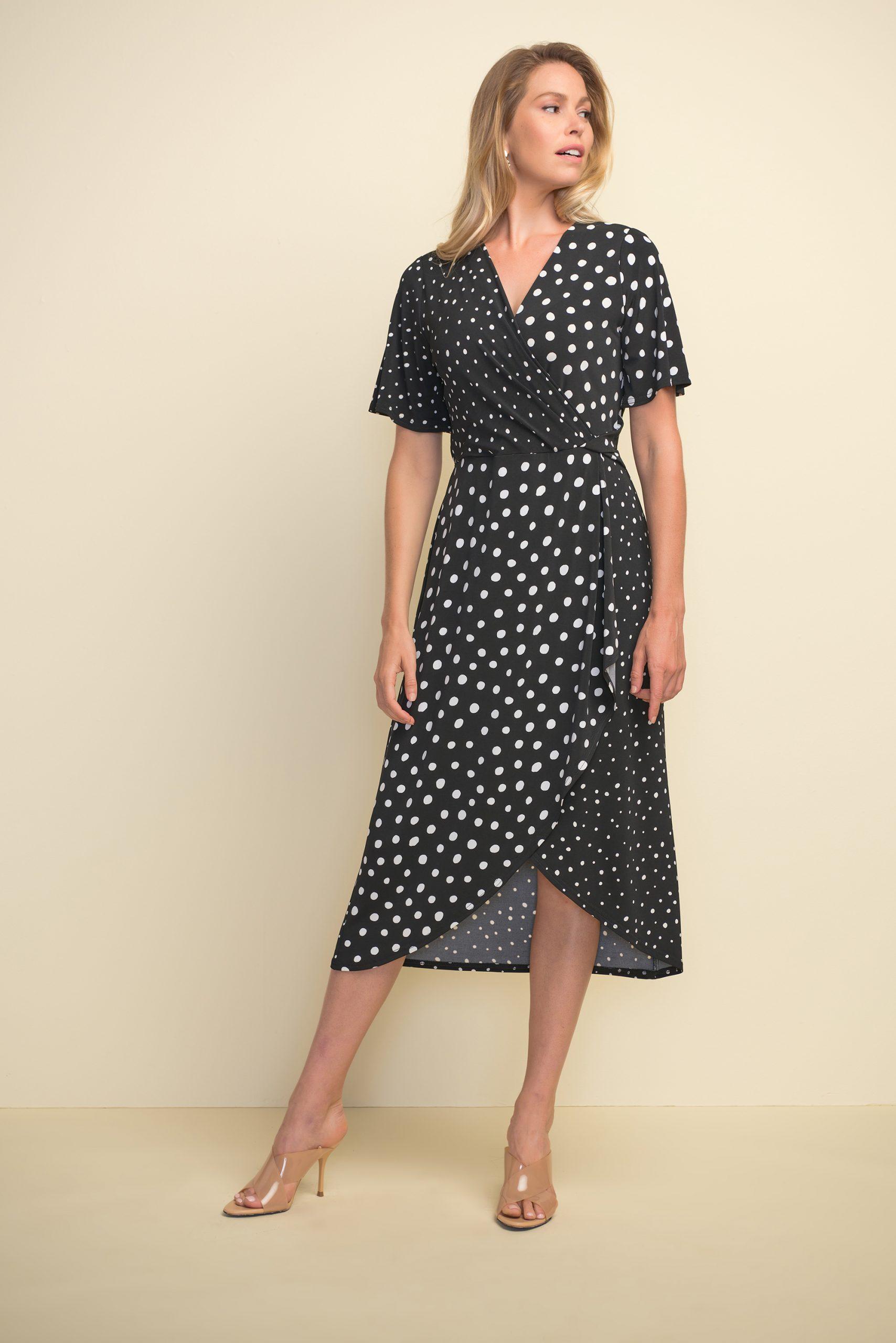 Joseph Ribkoff dress 211235 black and white spot