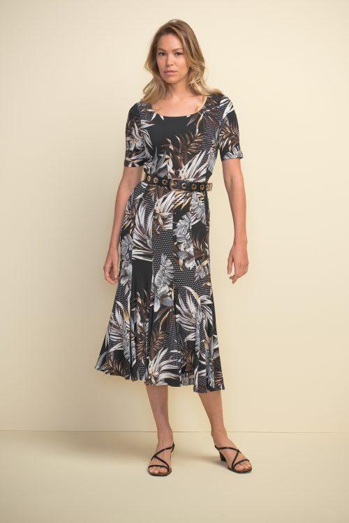 Joseph Ribkoff leaf print dress 211186