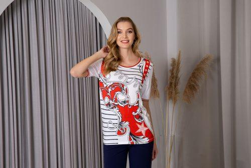 Passioni t shirt 3016 red white