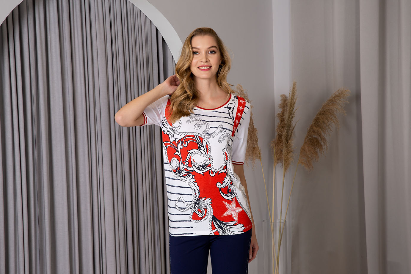 Passioni t shirt 3016 red white