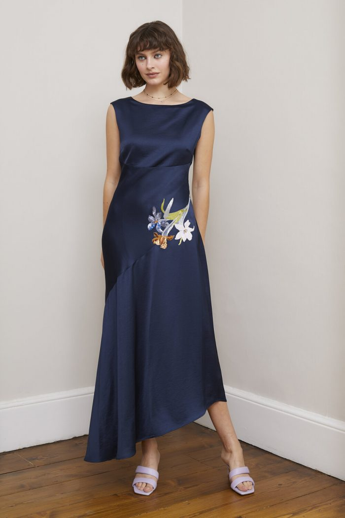 Sisters by C K Ciara navy dress