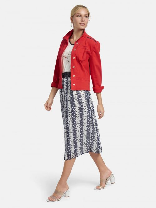 Basler red chilli denim jacket
