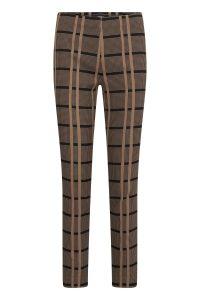 Gardeur Zene 14 Black and camel pull-up trousers