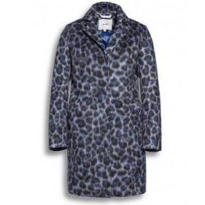 blue animal print coat jacket