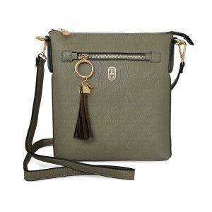 khaki ggreen finged cross body crossbody chelsea bag handbag