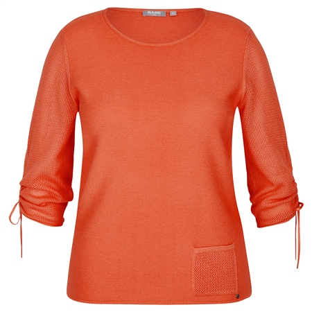 Rabe orange jumper with sleeve ties