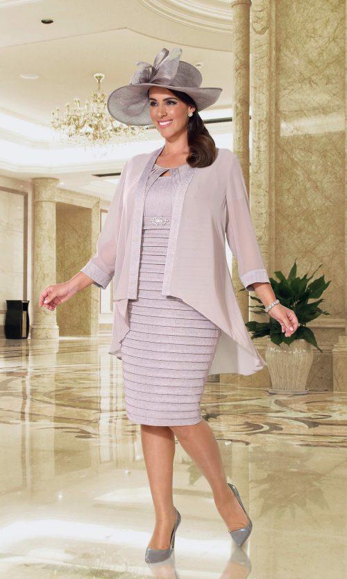 Dressed up blush dress and jacket