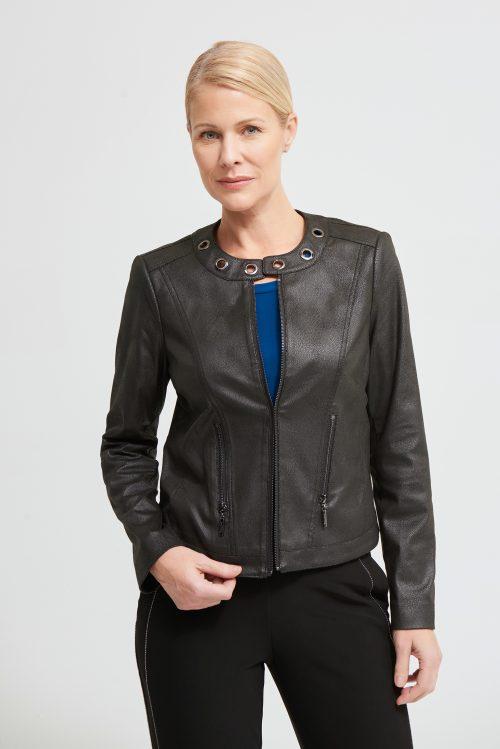Josephribkoff black faux leather jacket 213922