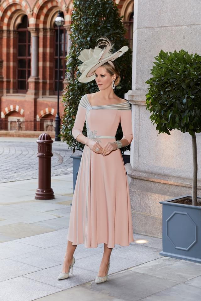 Veni Infantino dusty rose chiffon dress 991814