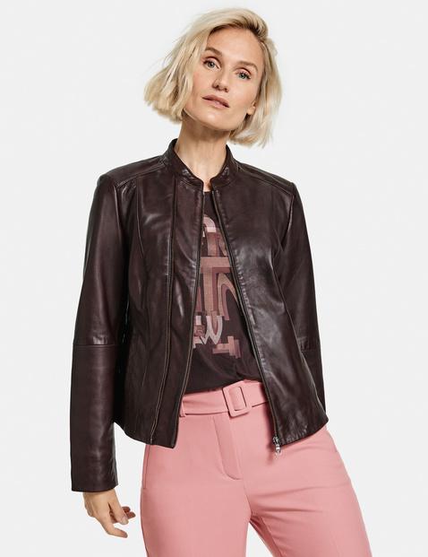 Gerry Weber chestnut leather jacket 630002