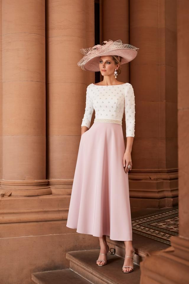 Veni Infantino ivory blush dress 991826