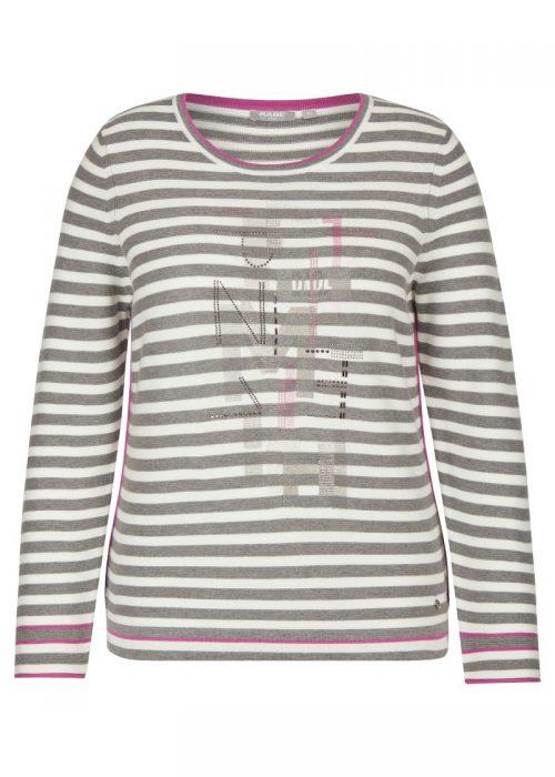 Rabe jumper grey stripe 47-013656