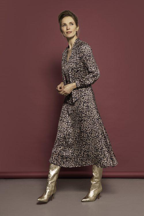 Caroline Kilkenny bloom dress abstract print