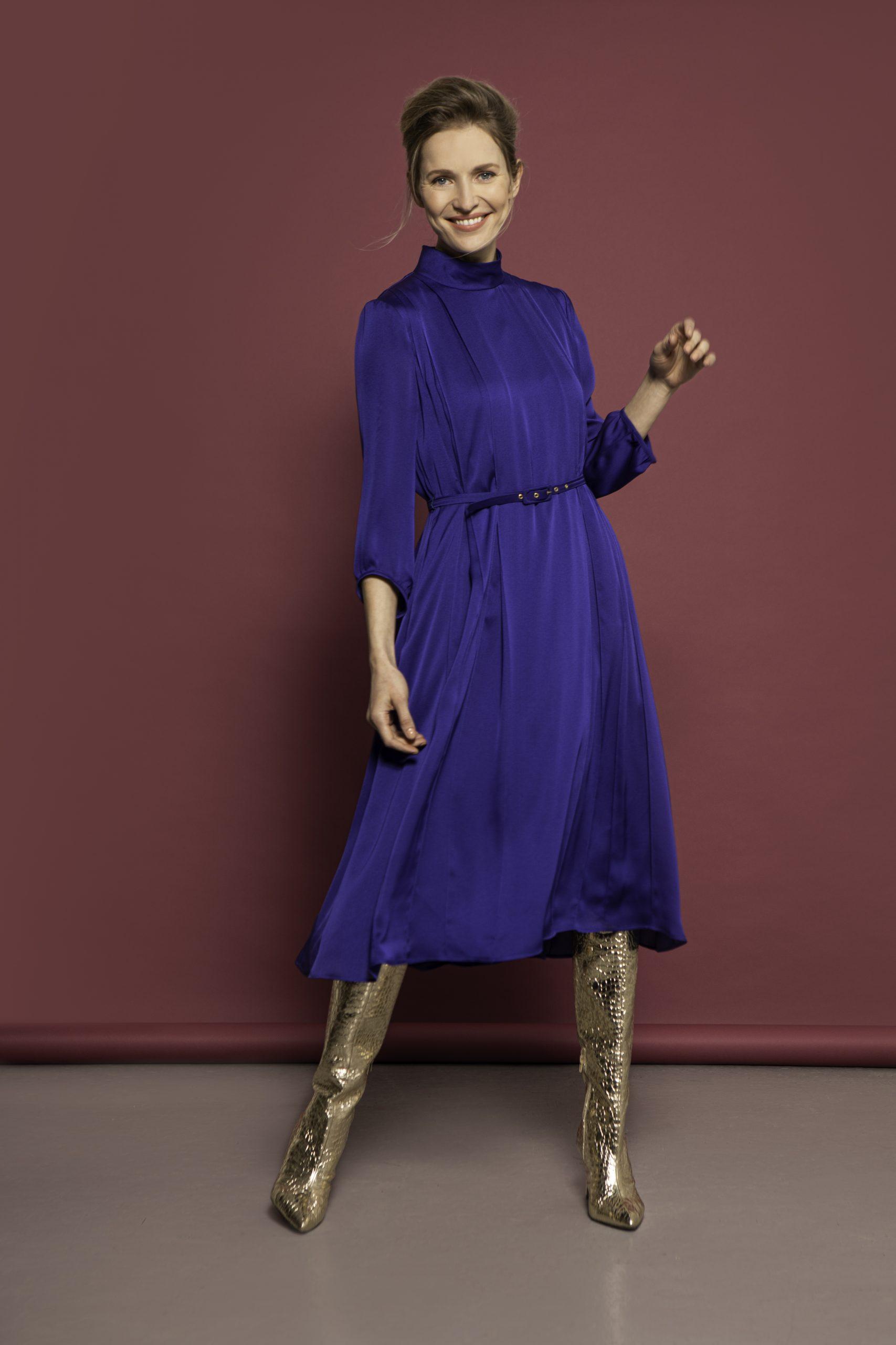 Caroline Kilkenny Amore dress cobalt blue