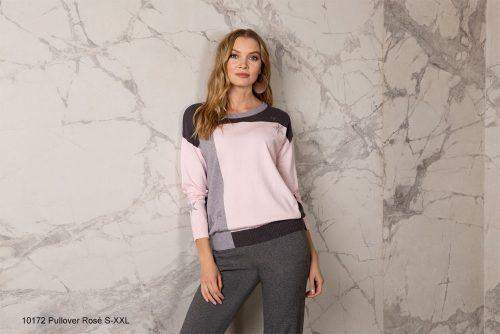 Passioni jumper pink grey 10172