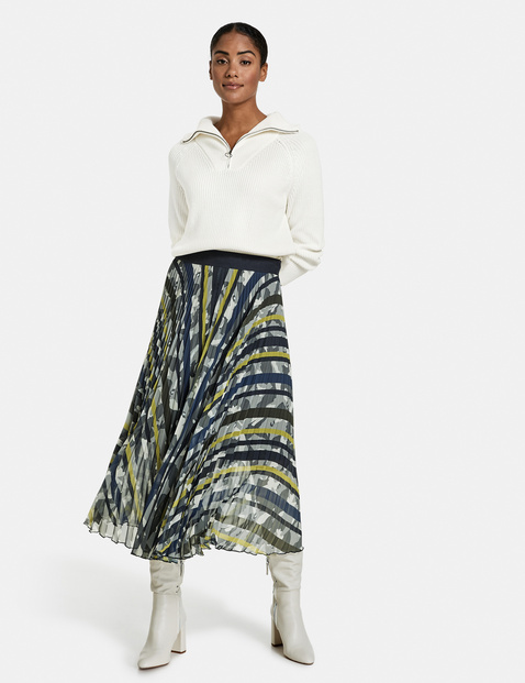 Taifun pleated skirt