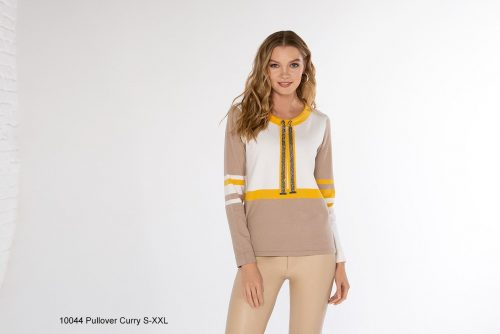 Passioni knit with curry and ivory 10044
