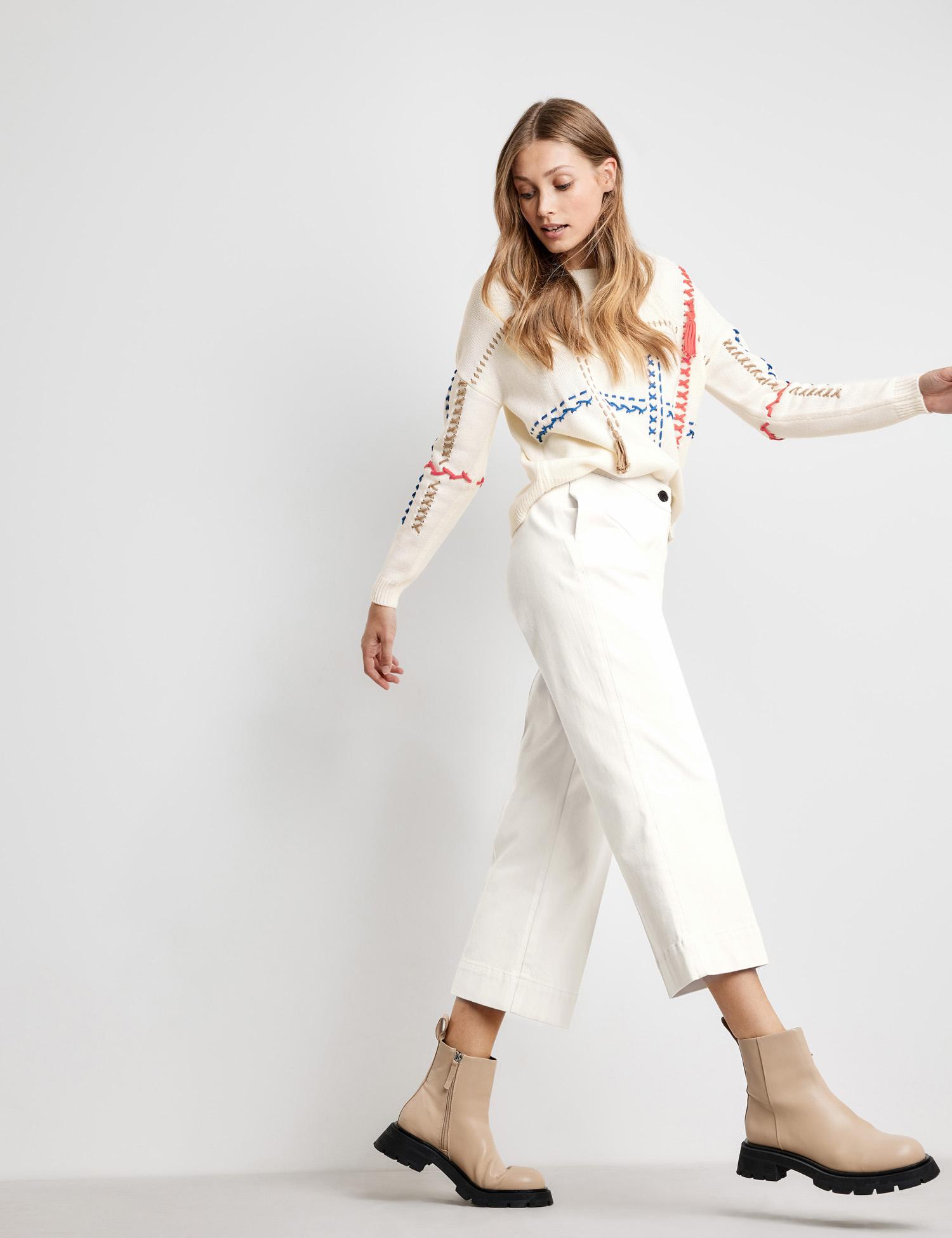 Taifun winter White 7/8 length trousers